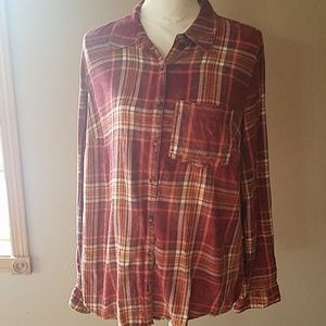 Maurices plaid shirt